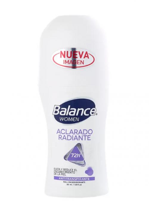Desodorante Balance rollon aclarado radiante