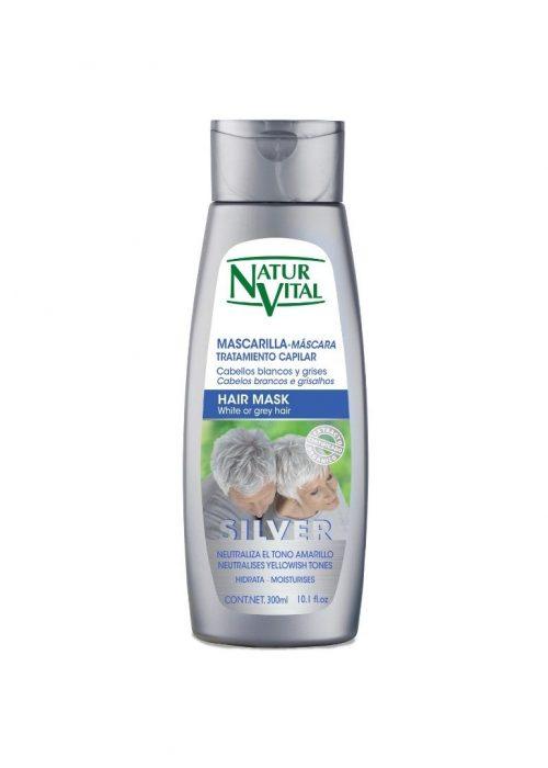 Mascarilla Silver cabellos blancos Naturaleza y Vida x300ml